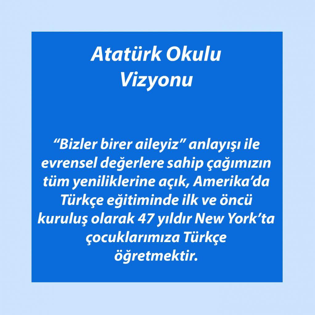 Ataturk Okulu Vizyonu